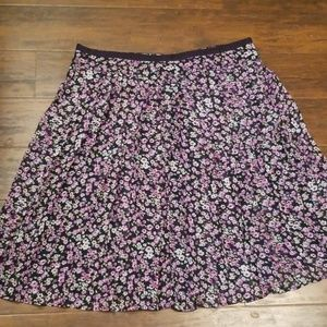 Christopher & Banks skirt floral pleated flowy 16